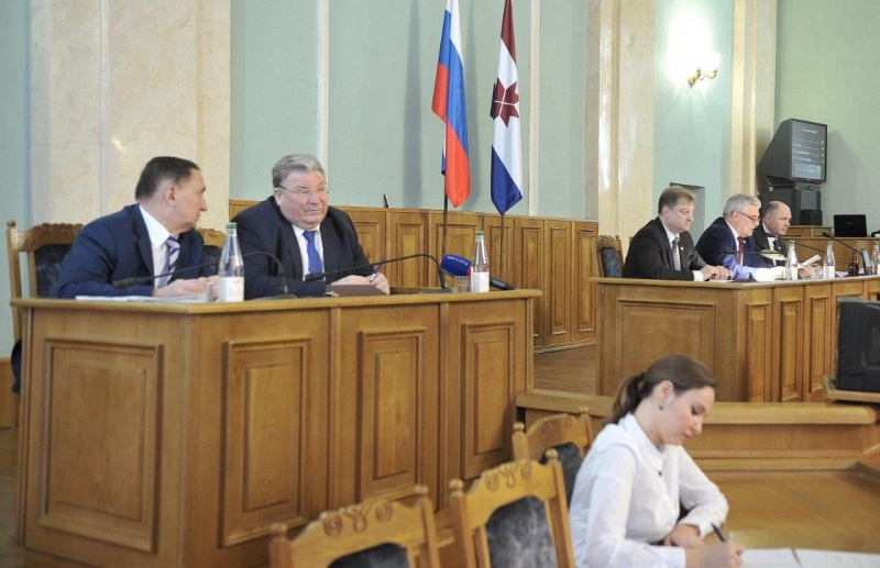 Vladimir Volkov, the Head of the Republic of Mordovia participated in the Mordovia State Assembly session