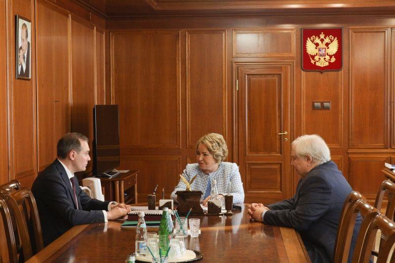 Врио Главы Мордовии Артём Здунов встретился с Председателем Совета Федерации Валентиной Матвиенко