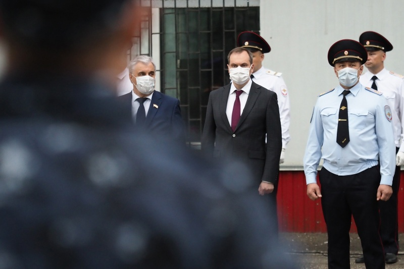 Артём Здунов принял участие в отправке сводного отряда полиции в служебную командировку на Северный Кавказ