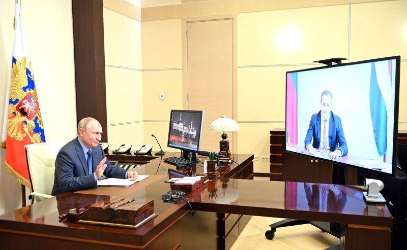 Президент Владимир Путин провёл рабочую встречу с Врио Главы Республики Мордовия Артёмом Здуновым